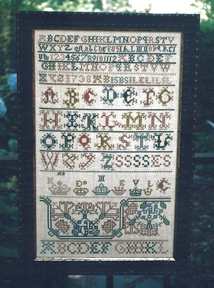 1738 Scottish Sampler by Threads of Gold