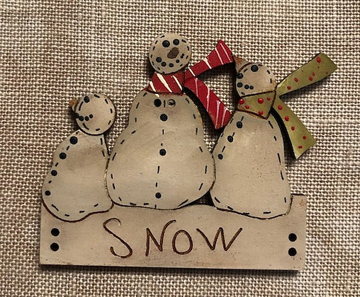 *Snowman Trio on a Board by Theodora Cleave