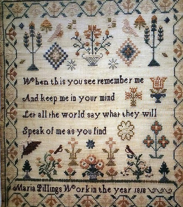 *Maria Pillings Reproduction Sampler by The Scarlett House