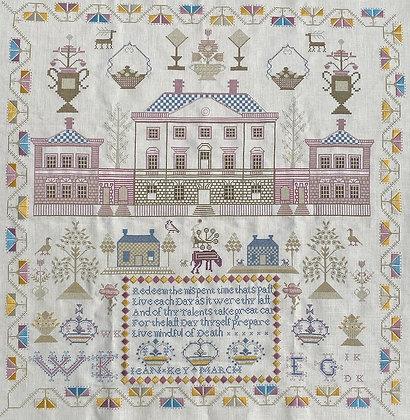 Jean Key Circa 1798 Scottish Sampler by Gentle Pursuit Designs
