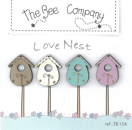 4 Spring Birdhouses by The Bee Company TB15A