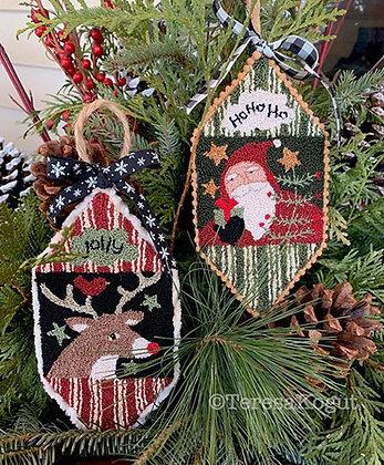 Santa & Reindeer (Punchneedle) by Teresa Kogut