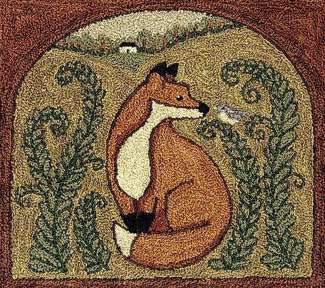 Fox & Friend (Punchneedle) by Teresa Kogut