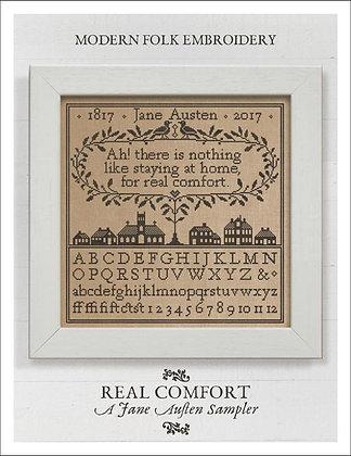 Real Comfort: A Jane Austin Sampler by Modern Folk Embroidery