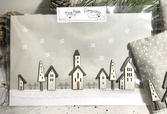 Winter Village Button Set TBH8 by The Bee Company
