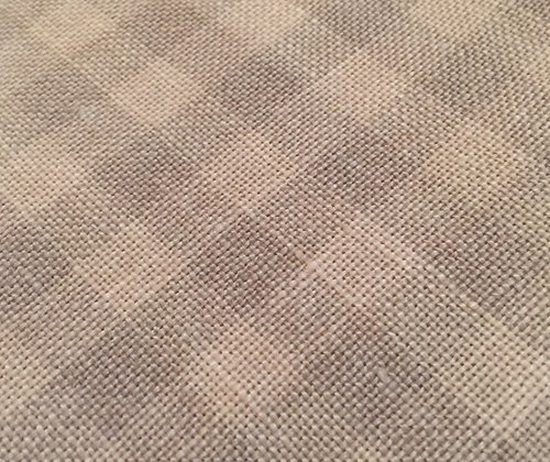 28 Count Cocoa Gingham 1/8 yard cut Hand-Dyed Linen by Weeks Dye Works