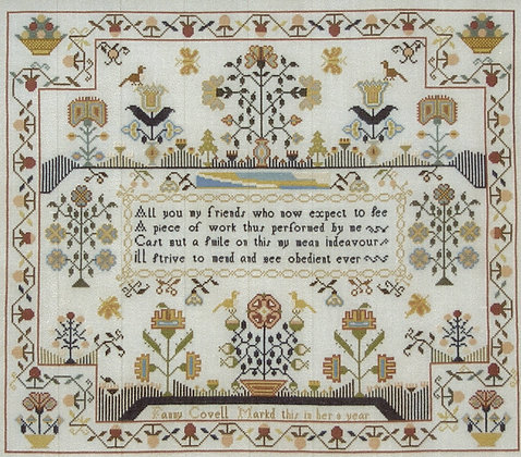 Fanny Covell c. 1790 by Queenstown Sampler Designs