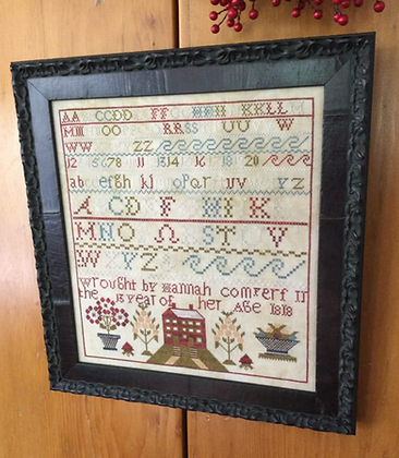 Hannah Commperf 1818 Sampler by Chessie & Me