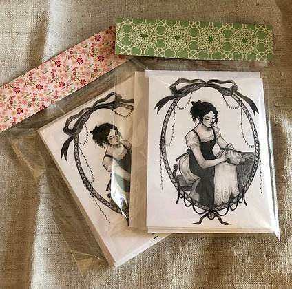 Jenny Bean Notecards Set of 10
