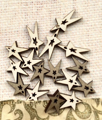 Christmas Stars Button Set TE6D by The Bee Company