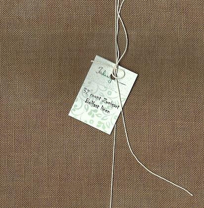 32 Count Reindeer Fat Quarter Hand-Dyed Linen by xJudesign
