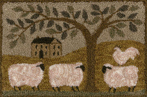 CATS Wooly Estate (punchneedle chart/cloth) by Teresa Kogut