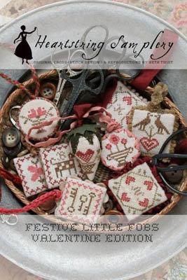 Festive Little Fobs Valentine by Heartstring Samplery