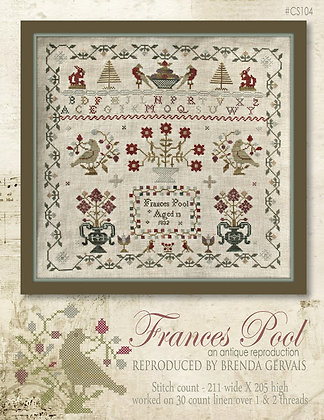 Frances Pool Reproduction Sampler by With Thy Needle & Thread