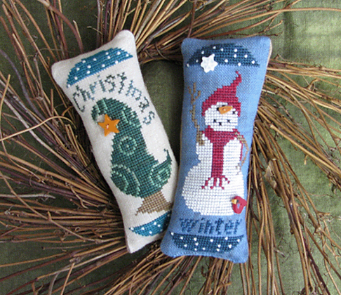 Winter & Christmas Pincushions by Raise the Roof Designs