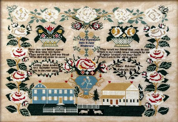 Letitia Jane Andrews 1836 by Queenstown Sampler Designs