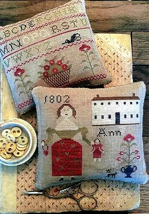 Ann's Sampler Pinkeeps by Stacy Nash Primitives