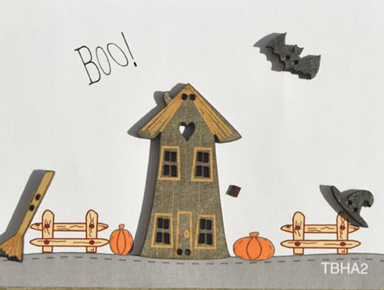 Boo Buttons by The Bee Company TBHA2