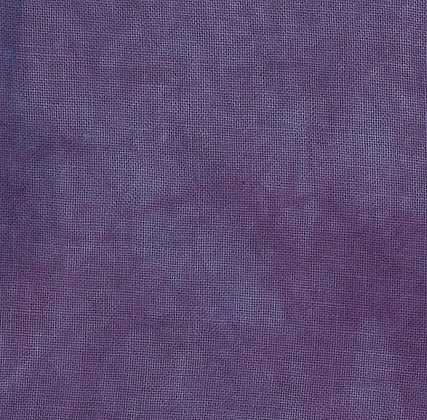 36 Count Plum Fat Quarter Hand-Dyed Linen by Fiber on a Whim