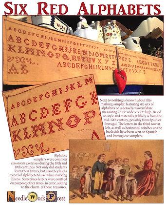 Six Red Alphabets by Needlework Press
