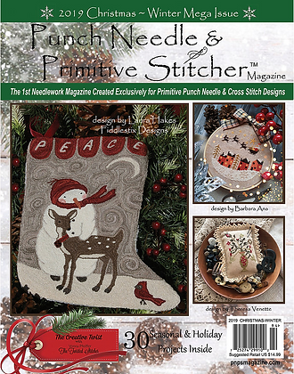 2019 Christmas Issue Punch Needle & Primitive Stitcher