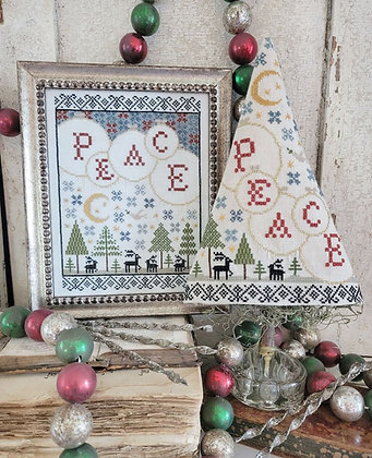 Fifth Day of Christmas Sampler Tree by Hello from Liz Mathews