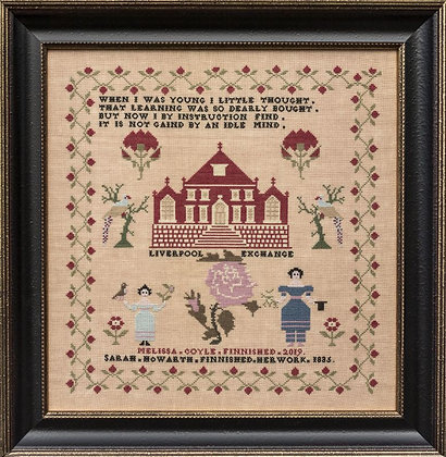 Sarah Howarth 1835 by Hands Across the Sea Sampler