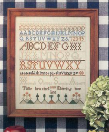 CATS Hannah Ormes Sampler 1810 by Simply Samplers