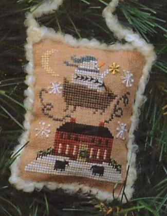 CATS: 2006 Snowman Ornament by Homespun Elegance (chart only)