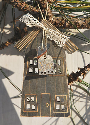 Christmas House Ornament by The Bee Company DNG21