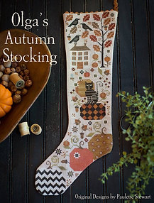 Olga's Autumn Stocking by Plum Street Samplers