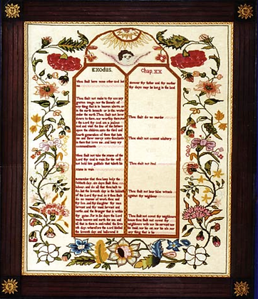 The Tablet Sampler circa 1755 by The Scarlet Letter
