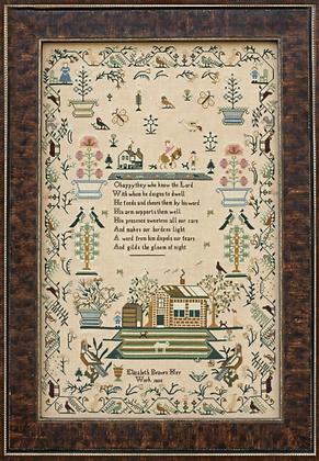Elizabeth Beaven 1835 by Hands Across the Sea Samplers
