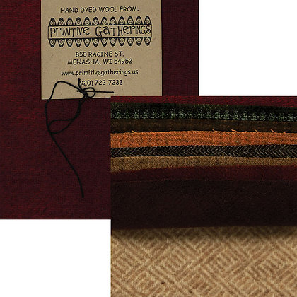 """ASSORTED Wool 5"""" Charm Pack by Primitive Gatherings"""