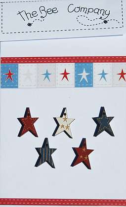 Patriotic Stars button pack by The Bee Company TB3CE