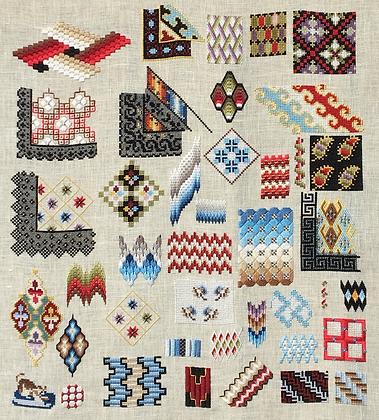 Woolwork Sampler by Reflets de Soie