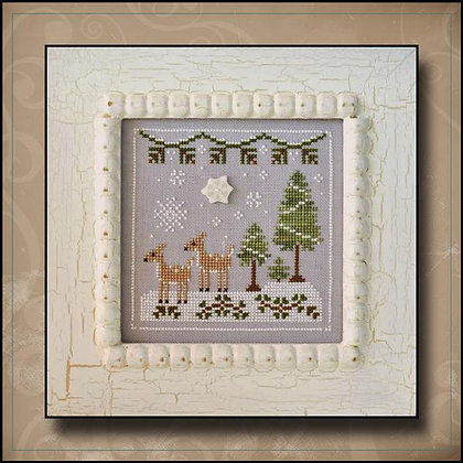 CATS Frosty Forest:Snowy Deer by Country Cottage Needleworks