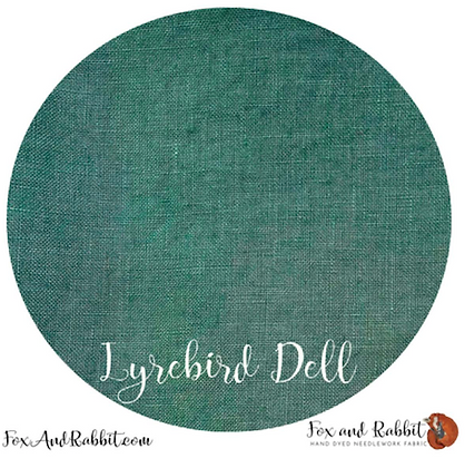 36 Count Lyrebird Doll Linen Fat Quarter Cut by Fox & Rabbi