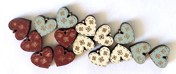 Assorted Hearts TM19 by The Bee Company