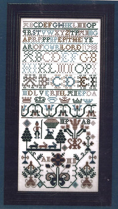1788 Scottish Sampler by Threads of Gold