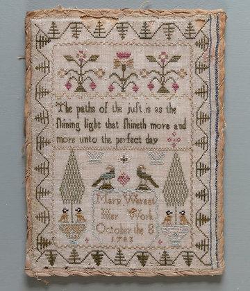 Mary Wereat, 1783 by Modern Folk Embroidery