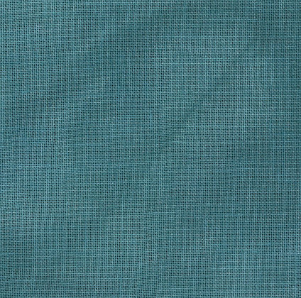 36 Count Peacock Blue Fat Quarter Hand-Dyed Linen by xJudesign