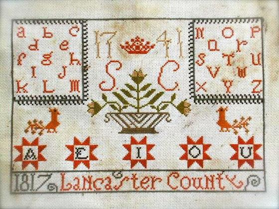 Lancaster County Alphabet Sampler by Notforgotten Farm