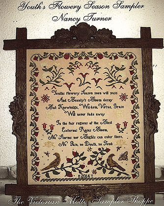 Youth's Flowery Season by The Victorian Motto Sampler Shoppe