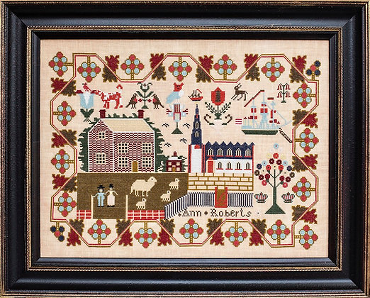 Ann Roberts c. 1842 by Hands Across the Sea Samplers
