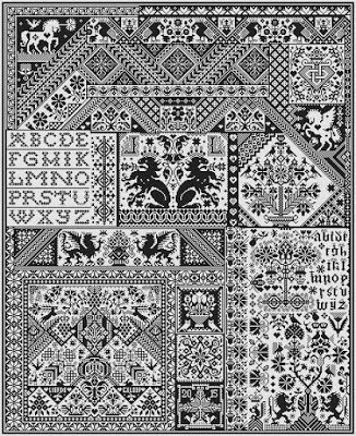 Death by Cross Stitch by Long Dog Samplers