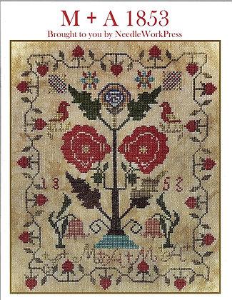 M + A 1853 by Needlework Press