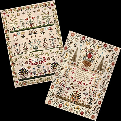 Isabella and Ann Uffindell Sampler Cards by Hands Across the Sea