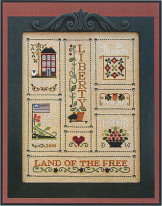CATS Heart of America (Chart Only) by Little House Needleworks
