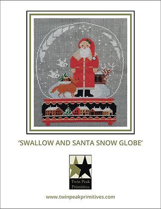 Swallow & Santa Snow Globe by Twin Peaks Primitives